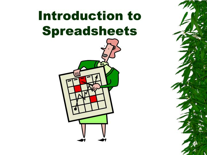 introduction to spreadsheets n.