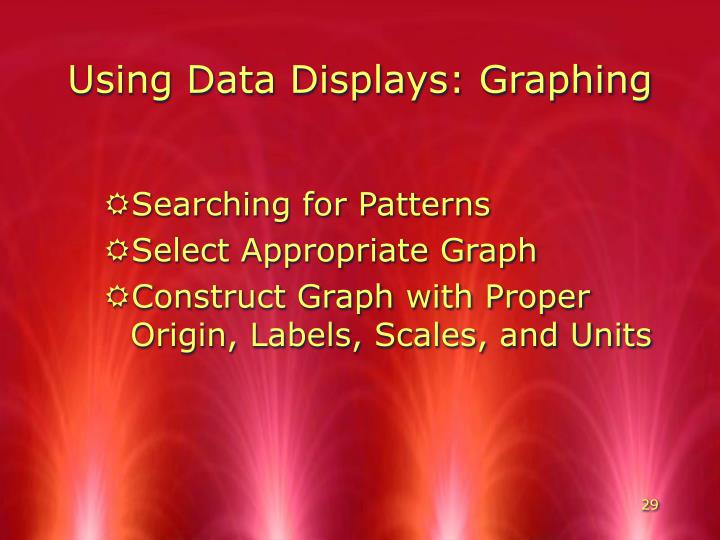 Using Data Displays: Graphing
