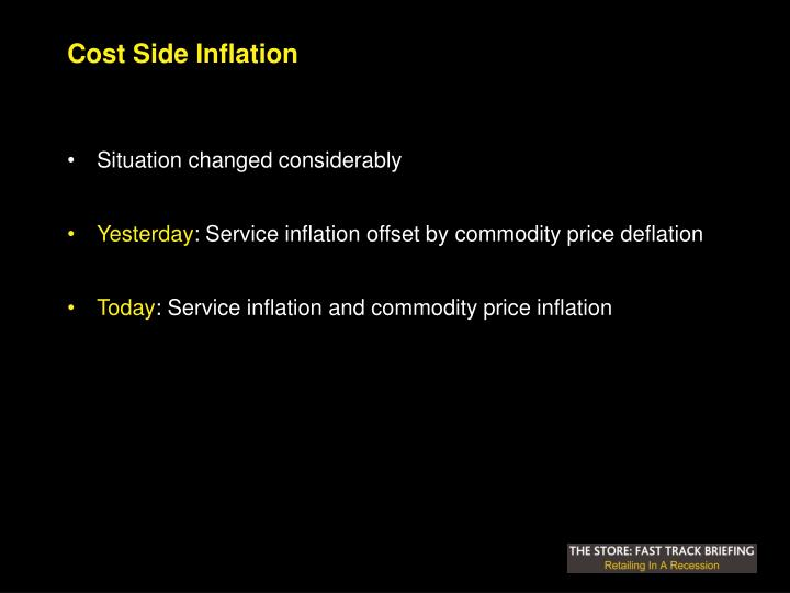 Cost Side Inflation
