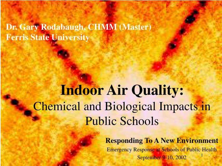 indoor air quality chemical and biological impacts in public schools n.