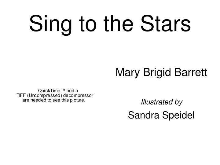 sing to the stars n.