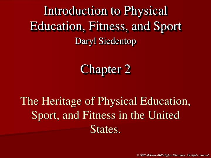 the heritage of physical education sport and fitness in the united states n.