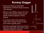 runway stagger