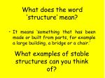 what does the word structure mean