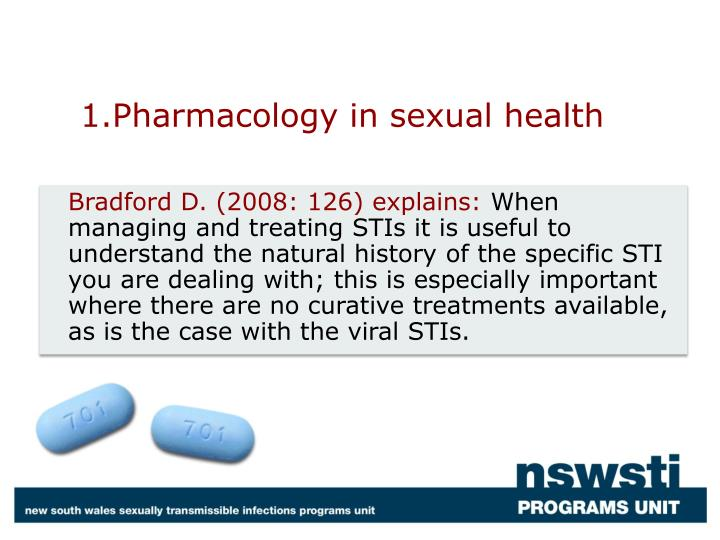 1 pharmacology in sexual health