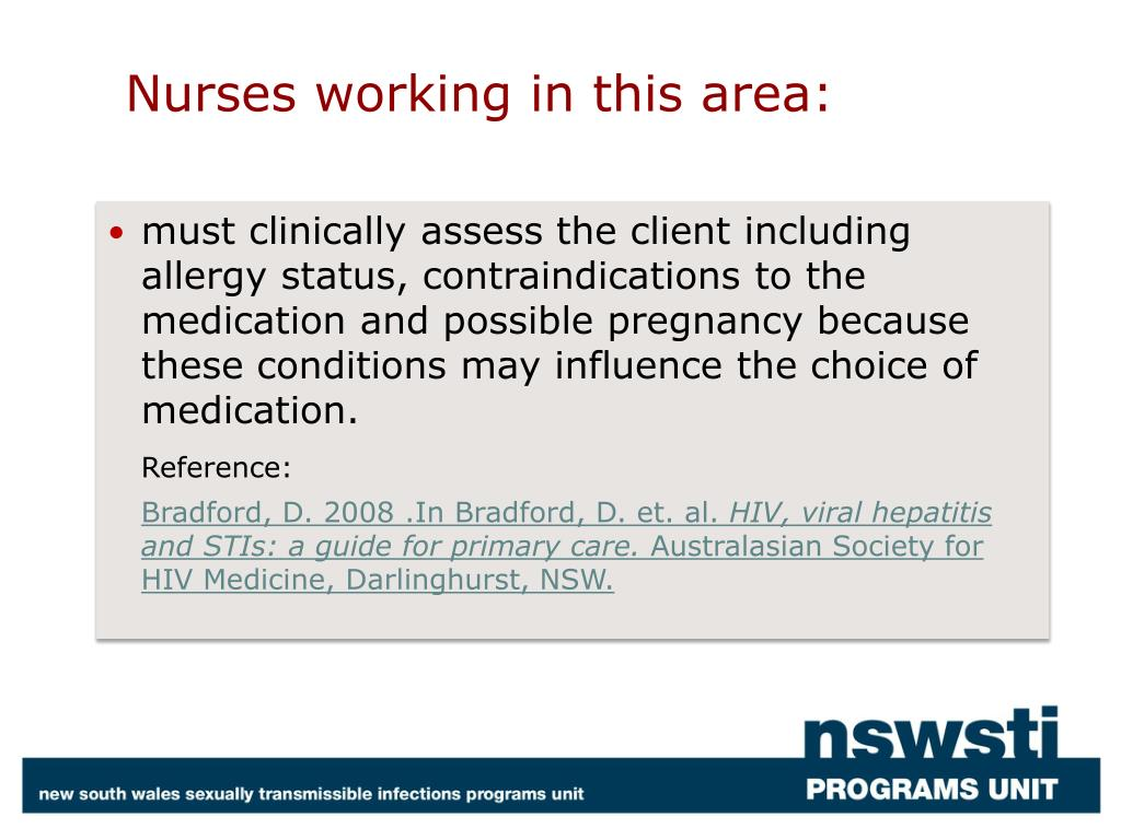Nurses working in this area: