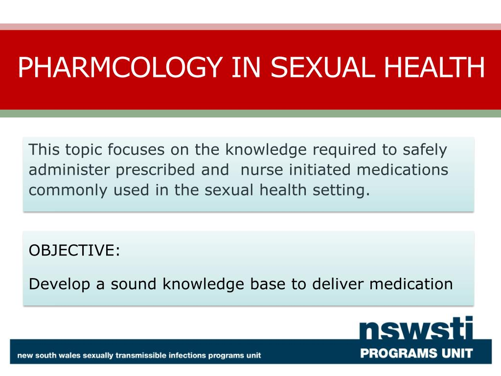 pharmacolgy in sexual health l.