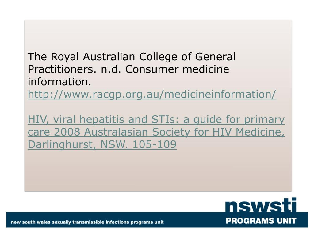 The Royal Australian College of General Practitioners.