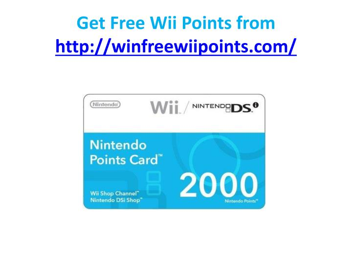 Get free wii points from http winfreewiipoints com