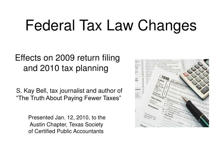 federal tax law changes n.
