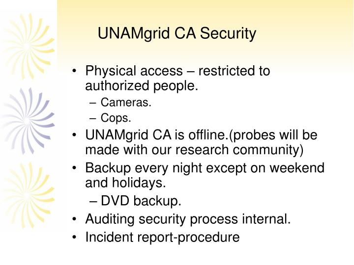 UNAMgrid CA Security