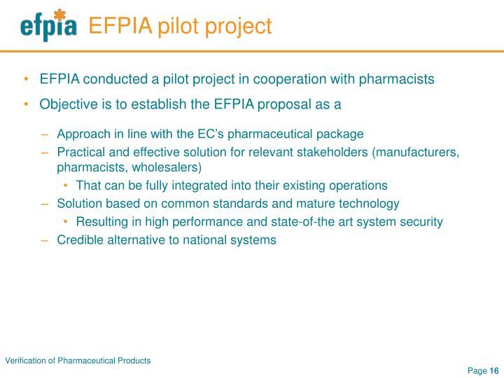 EFPIA pilot project