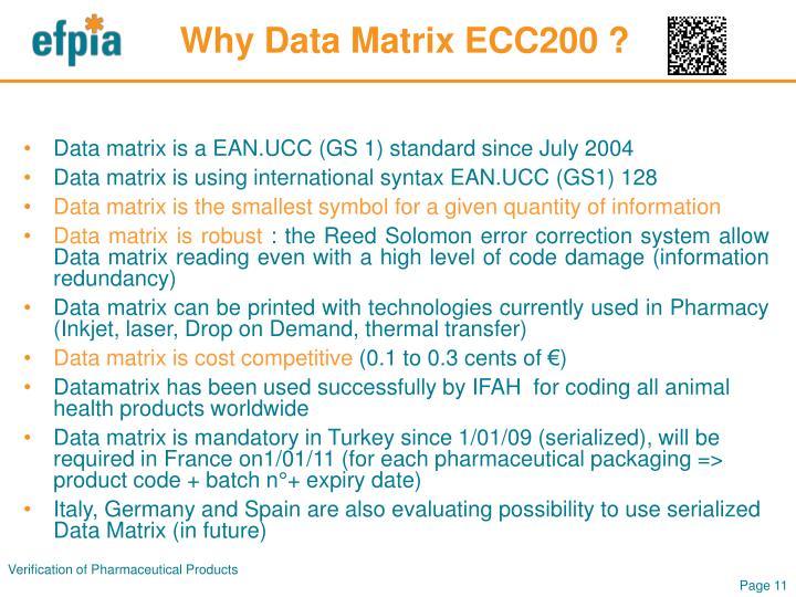 Why Data Matrix ECC200 ?