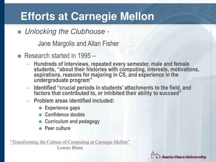 Efforts at Carnegie Mellon