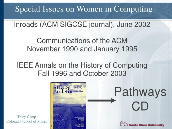 Special Issues on Women in Computing