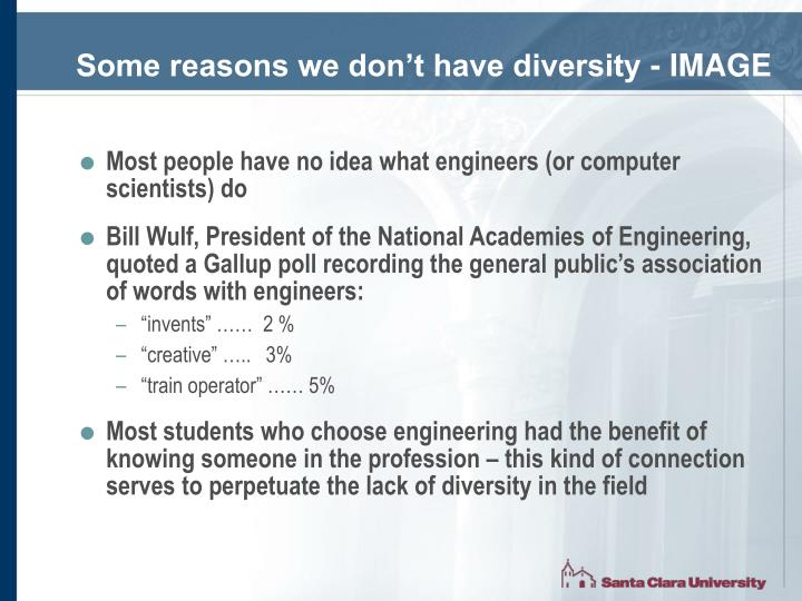 Some reasons we don't have diversity - IMAGE