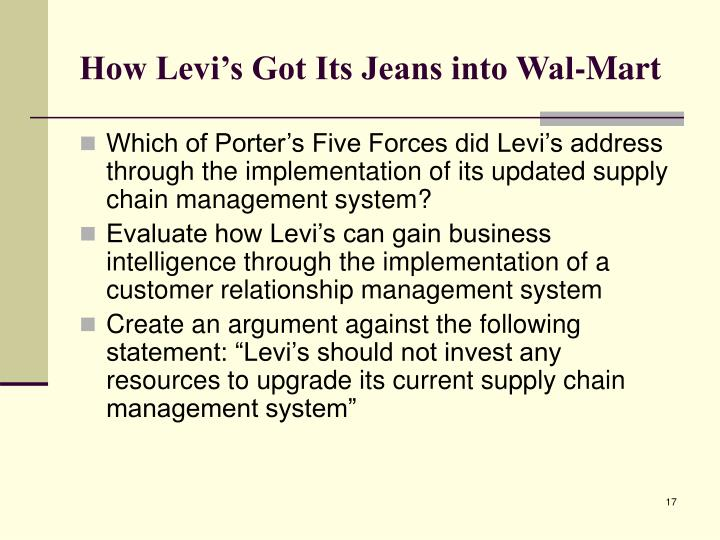 How Levi's Got Its Jeans into Wal-Mart
