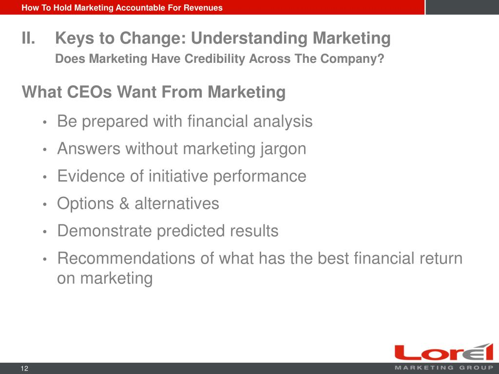 How To Hold Marketing Accountable For Revenues