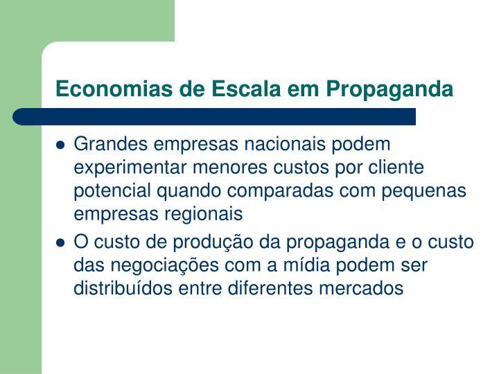 Economias de Escala em Propaganda