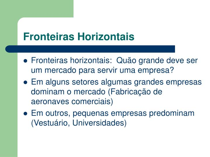 Fronteiras horizontais