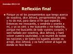 reflexi n final