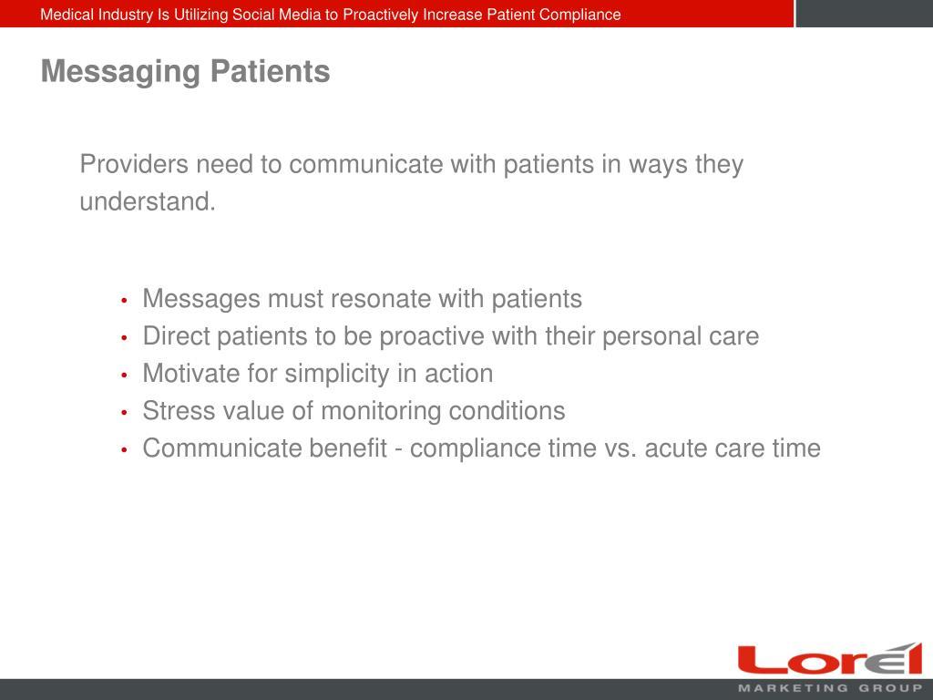 Messaging Patients