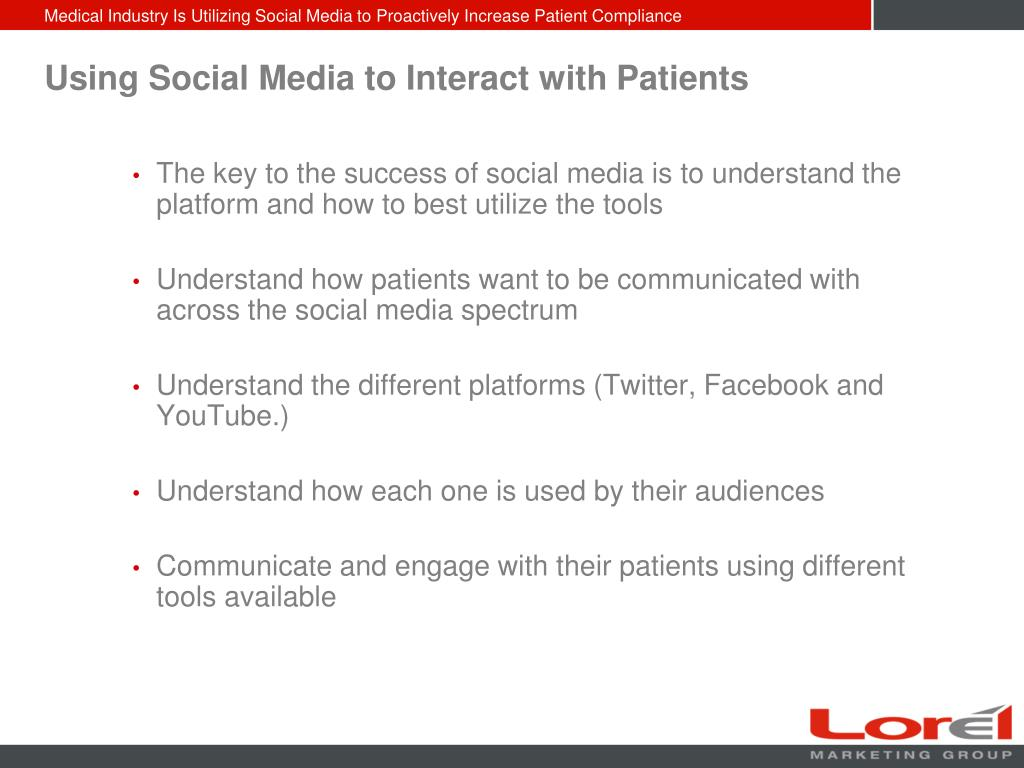 Using Social Media to Interact with Patients