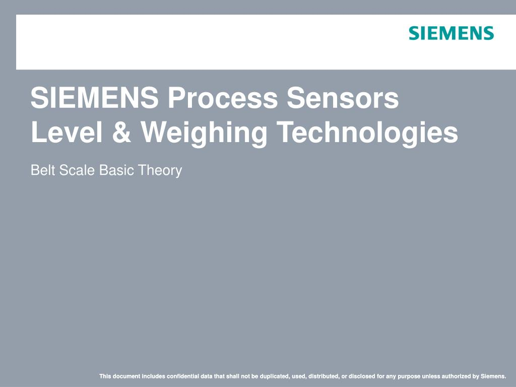 Ppt Siemens Process Sensors Level Weighing Technologies Solid State Relay N