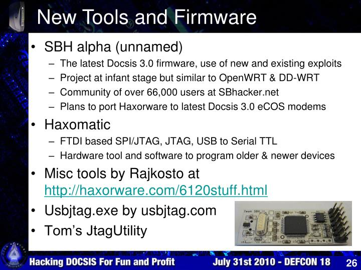 New Tools and Firmware