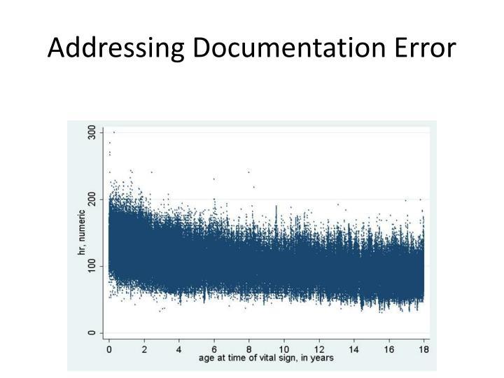Addressing Documentation Error