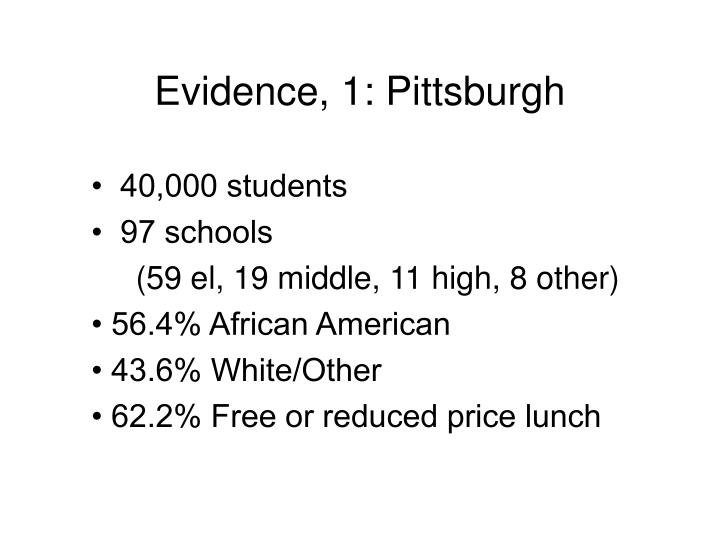 Evidence, 1: Pittsburgh
