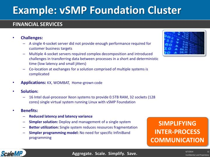 Example: vSMP Foundation Cluster