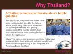 why thailand4
