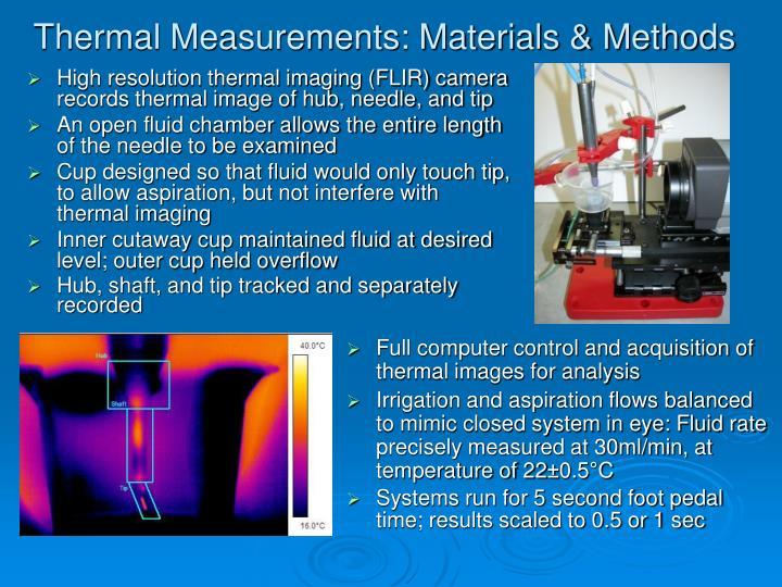 Thermal Measurements: Materials & Methods