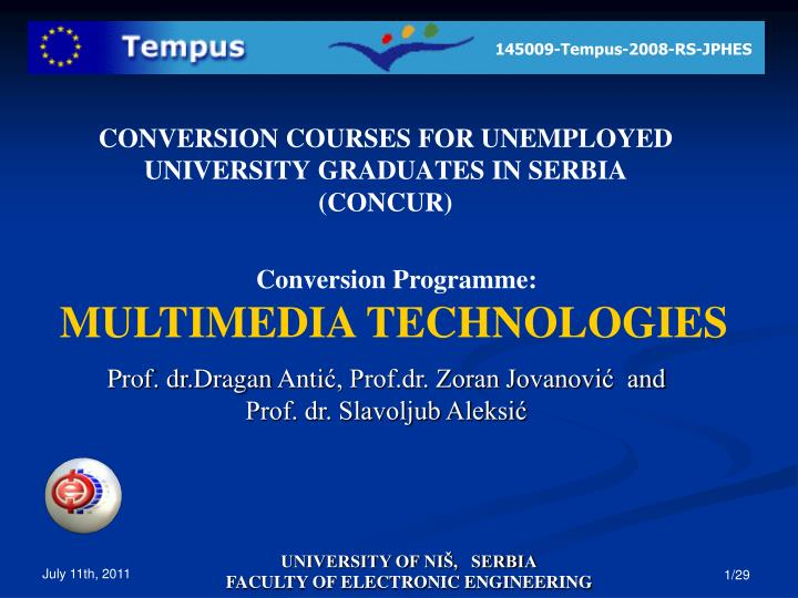 conversion courses for unemployed university graduates in serbia concur n.