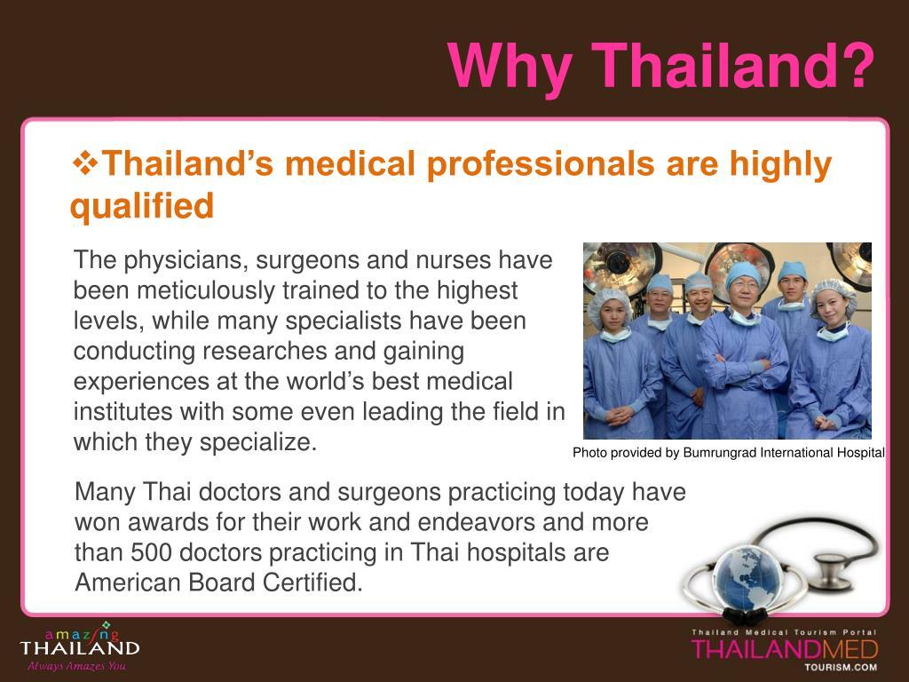 Why Thailand?