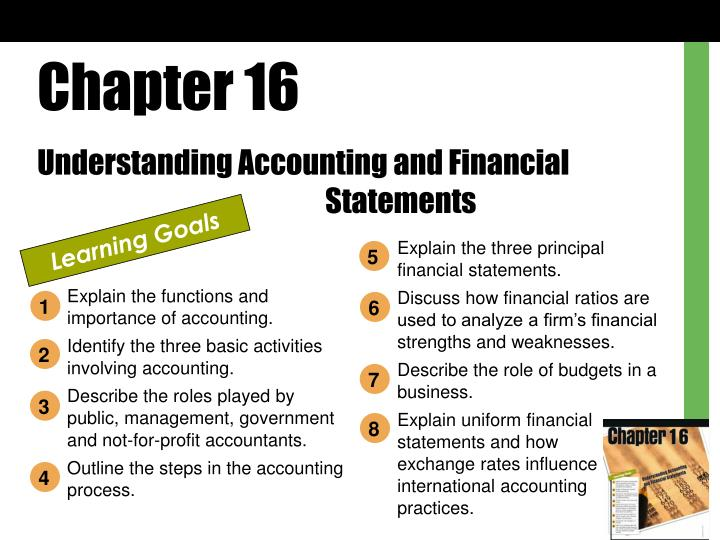 an analysis of the chapters in the public accounting and financial reporting sectors • chapter 4, other accounting and financial reporting items — this chapter expands on the items introduced in chapters 2 and 3 by discussing additional accounting and financial reporting guidance on topics such as statement of cash flows, discontinued operations, and subsequent.