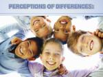 perceptions of differences
