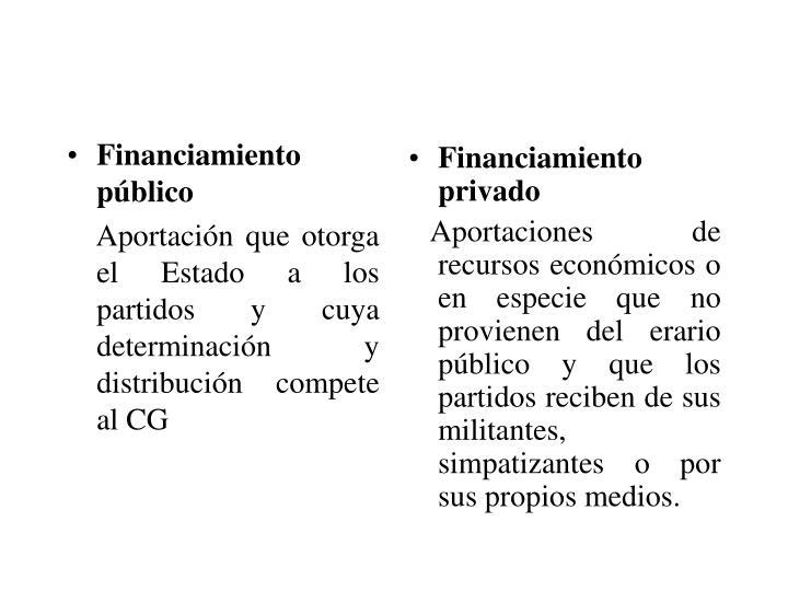 Financiamiento público