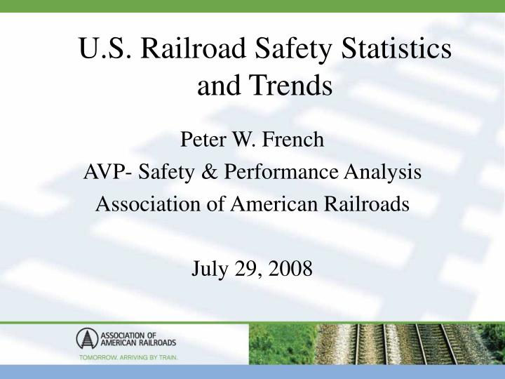 u s railroad safety statistics and trends n.