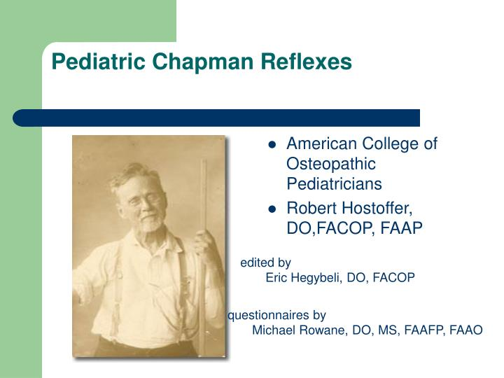 pediatric chapman reflexes n.