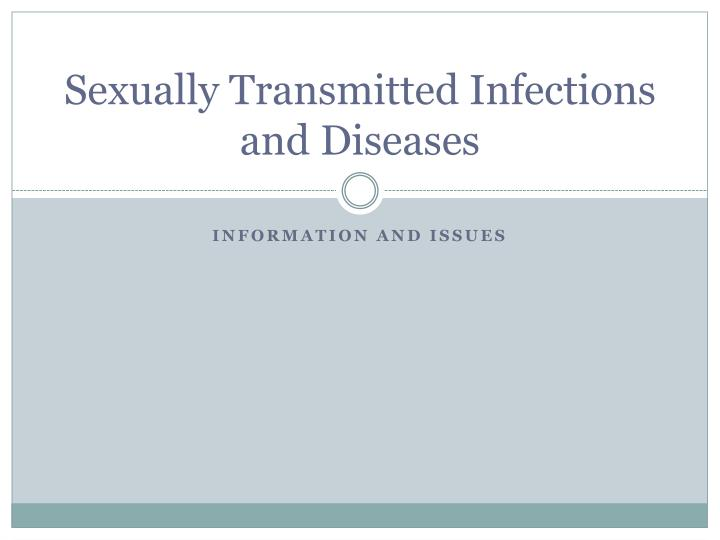 sexually transmitted infections and diseases n.