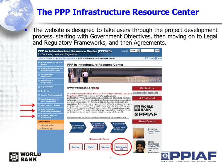 The ppp infrastructure resource center1