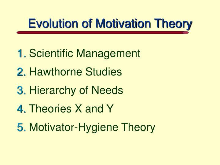 Evolution of Motivation Theory