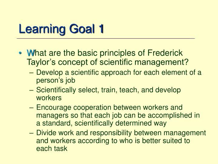 Learning Goal 1