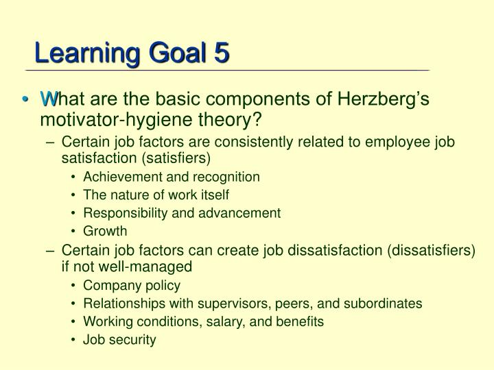 Learning Goal 5