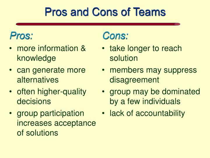 Cons: