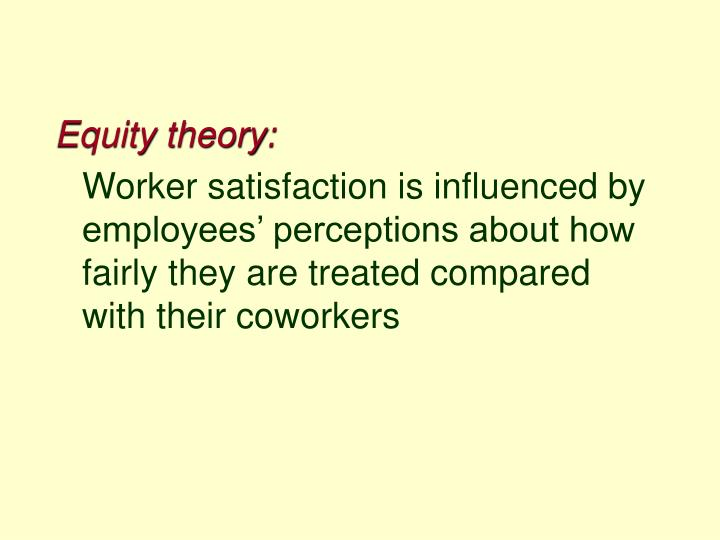 Equity theory: