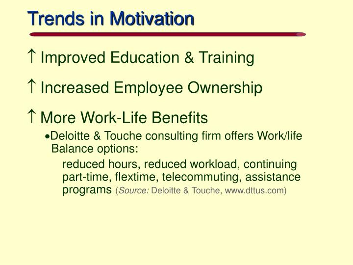 Trends in Motivation