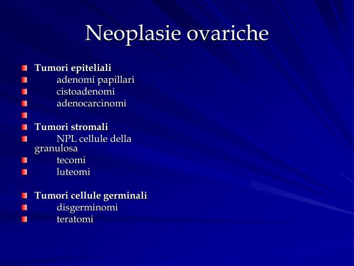 Neoplasie ovariche